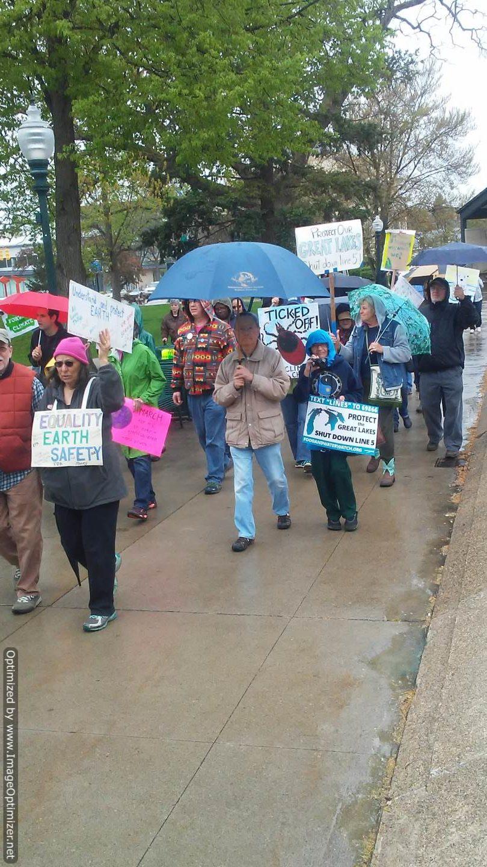 Activists at 2017 People's Climate March, Kalamazoo, MI